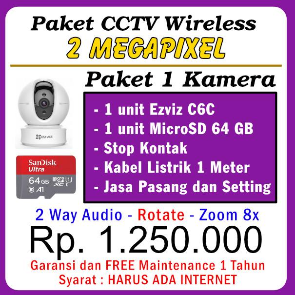 Paket CCTV WiFi C6C 1080P - 1 Kamera
